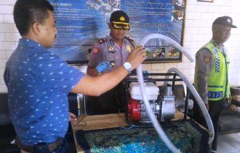 Barang bukti pomba air yang berhasil diamankan petugas.(achmad suprayogi/bhirawa)