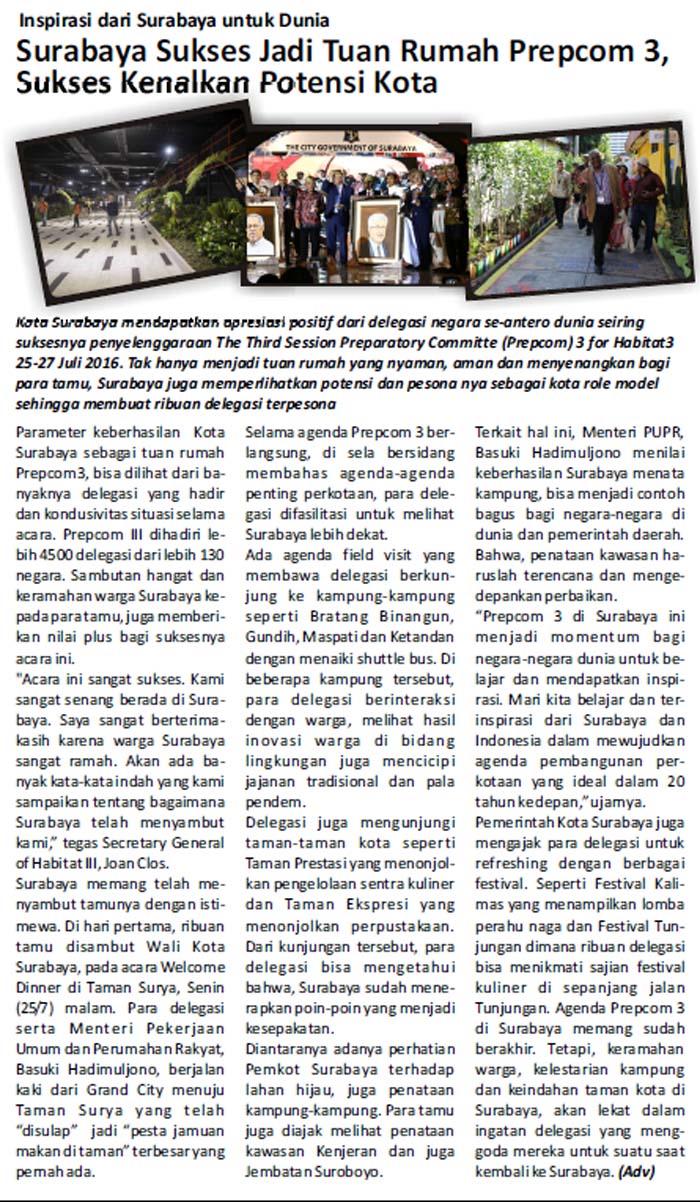 Surabaya Sukses Jadi Tuan Rumah Prepcom 3
