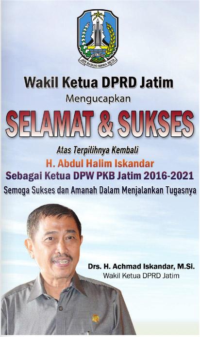Wakil Ketua DPRD Jatim Ucapkan Selamat Kepada Ketua DPW PKB Jatim