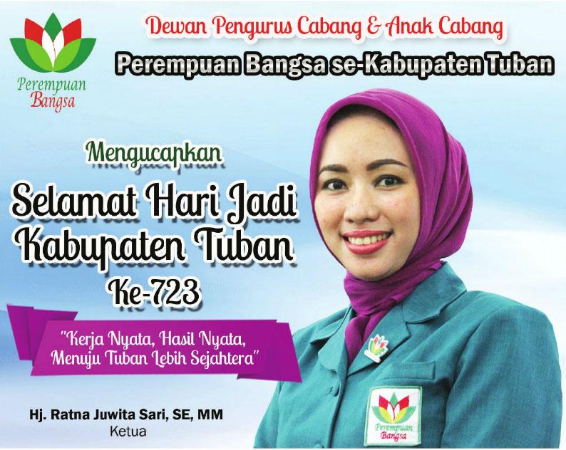 Perempuan Bangsa Ucapkan HUT Kabupaten Tuban ke-723