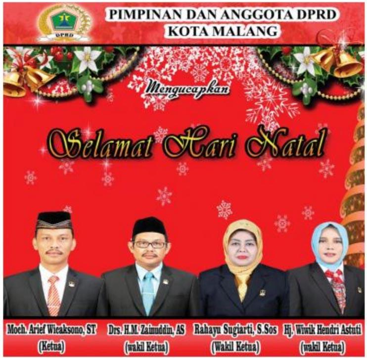 DPRD Kota Malang Ucapkan Selamat Natal 2016