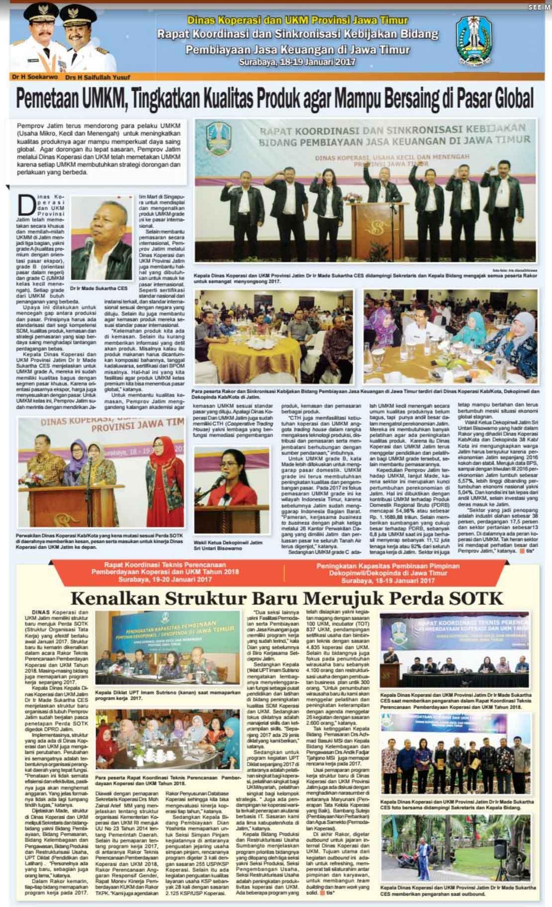 Rakor Dinas Koperasi dan UMKM Provinsi Jatim