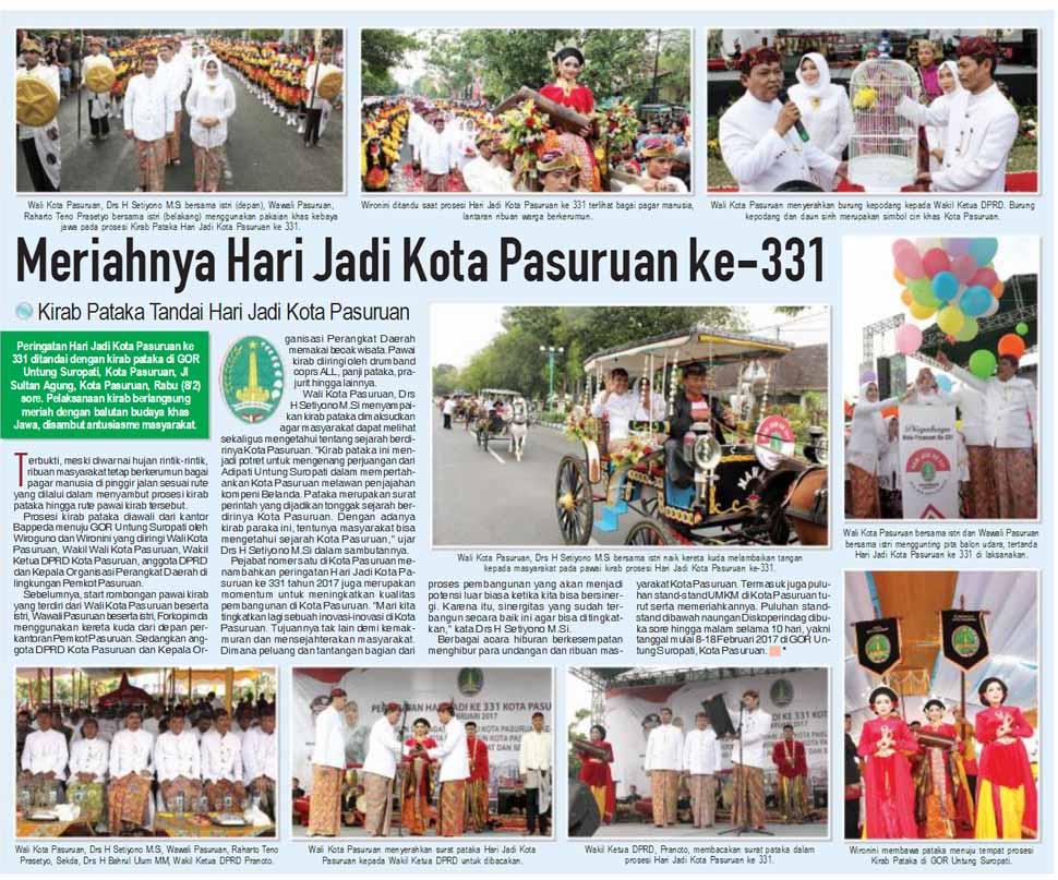 Meriahnya Hari Jadi Kota Pasuruan ke-331