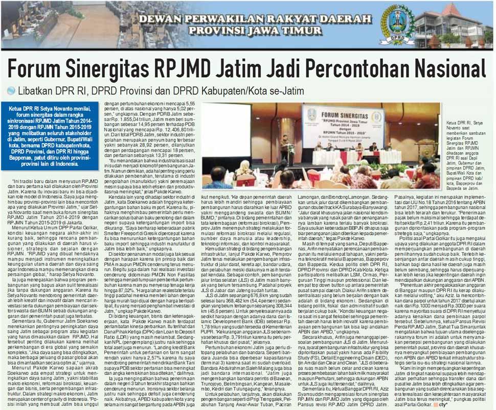 Forum Sinergitas RPJMD Jatim